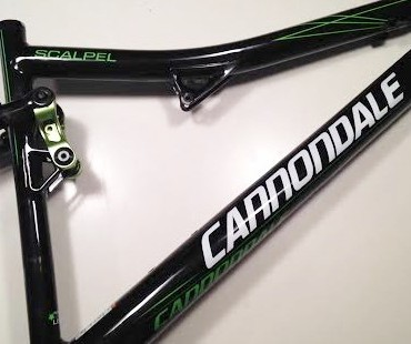 Cannondale Scalpel grote schade schuine buis